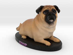 Custom Dog Figurine - Koop in Full Color Sandstone