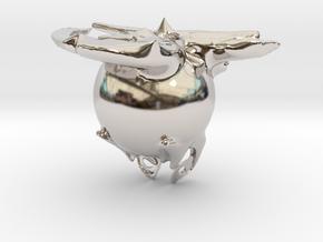 8198 in Rhodium Plated Brass