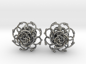 Plugs / gauge / size 3/8  (10mm) in Fine Detail Polished Silver