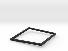 Square Bracelet Small Black in Black Natural Versatile Plastic