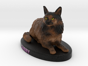 Custom Cat Figurine - Gabby in Full Color Sandstone