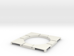 T-182-wagon-turntable-48d-100-corners-flat-1a in White Natural Versatile Plastic