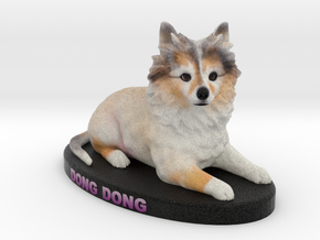 Custom Dog Figurine - Dong in Full Color Sandstone
