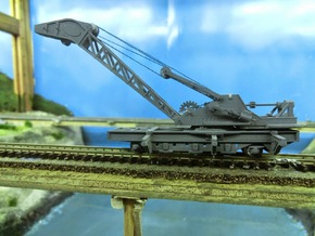 Nz120 (4/5) Craven 40-ton Steam Crane - Jib in Frosted Extreme Detail