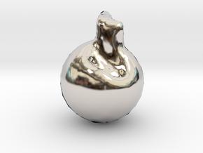 4689 in Rhodium Plated Brass