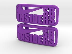"""SB Insiders"" Lacelocks (1 pair) in Purple Strong & Flexible Polished"