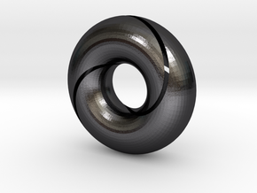 split torus in Polished and Bronzed Black Steel