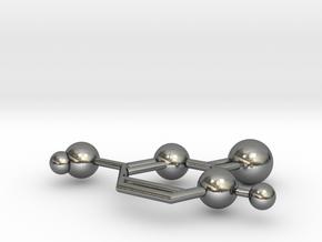 Cytosine in Polished Silver