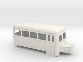 009 short single-ended railbus with bonnet  in White Strong & Flexible
