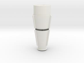 JP Rocket Top Fins 2 Piece in White Natural Versatile Plastic