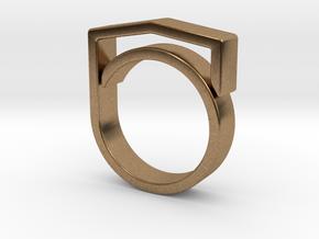 Adjustable ring for men. Model 4. in Natural Brass