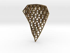 Space Frame Pendent in Polished Bronze