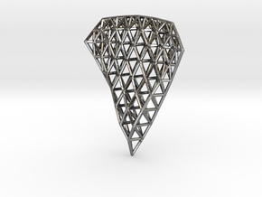 Space Frame Pendent in Polished Silver