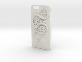 iPhone6 Case - Lu Prosperity Symbol with Dragon in White Strong & Flexible