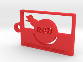 Team Fortress 2 Red Team Keychain in Red Strong & Flexible Polished