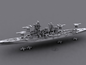 IJN BB Kongo[1944] in White Natural Versatile Plastic: 1:1800