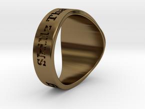 Superball G1nseng Ring Season 4 in Polished Bronze