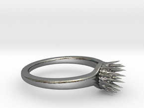 Thorns Of The Sea Ring Size 8 (Stronger) in Polished Silver