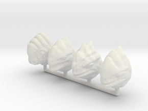 Fauxgan Headsculpts in White Natural Versatile Plastic
