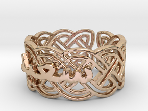 Saeid-size11-5--Rh-1 Ring Size 11.5 in 14k Rose Gold Plated Brass