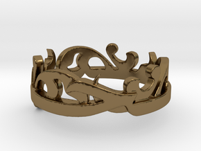 Sahar-Ring-Popper-Size-7.5(1) (repaired) in Polished Bronze