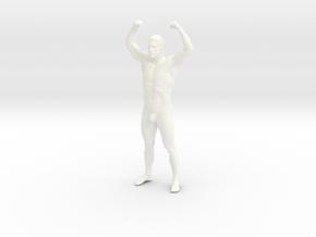 Bodybuilding man in 8cm Passed in White Processed Versatile Plastic