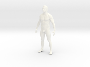 Naked man in 10cm Passed in White Processed Versatile Plastic