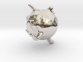 18048 in Rhodium Plated Brass