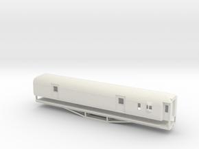 F 56ft Van, New Zealand, (HO Scale, 1:87) in White Natural Versatile Plastic