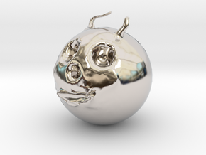 14191 in Rhodium Plated Brass