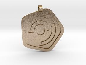 New Harmony Pendant   Flat Borders in Polished Gold Steel