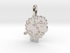 Little Lamb pendant in Rhodium Plated Brass