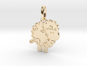 Little Lamb pendant in 14k Gold Plated Brass