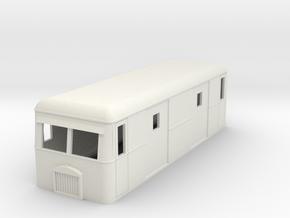 009 Short bogie parcels railbus in White Natural Versatile Plastic