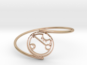 April - Bracelet Thin Spiral in 14k Rose Gold Plated Brass