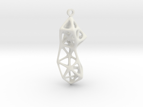 Pendants_Exo01 in White Natural Versatile Plastic