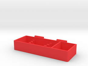 Toolbox Bottom in Red Processed Versatile Plastic