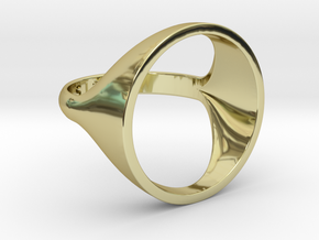 Circle Ring - Sz5 in 18K Gold Plated