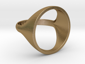 Circle Ring - Sz5 in Polished Gold Steel