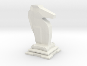Knight - Mini Chess Piece in White Strong & Flexible