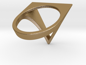 Triangle Ring - Sz5 in Polished Gold Steel