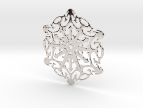 Snowflake Crystal in Rhodium Plated Brass