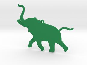 Trumpeting Elephant in Green Processed Versatile Plastic