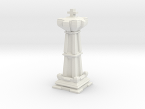 King - Mini Chess Piece in White Strong & Flexible
