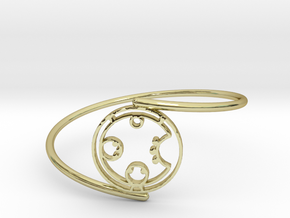 Carol - Bracelet Thin Spiral in 18k Gold Plated Brass