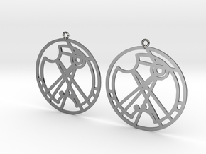 Ramisa - Earrings - Series 1 in Fine Detail Polished Silver