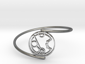 Merryn - Bracelet Thin Spiral in Polished Silver