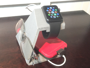 TRIO Apple Watch, iphone and Glasses Docking stati in White Strong & Flexible