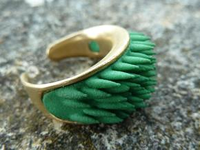 Grass Element (clips onto Swap-ring) in Green Processed Versatile Plastic