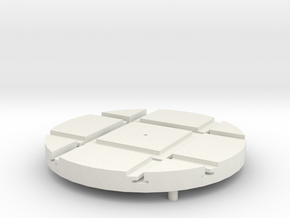 T-21-wagon-turntable-48d-100-1a in White Natural Versatile Plastic